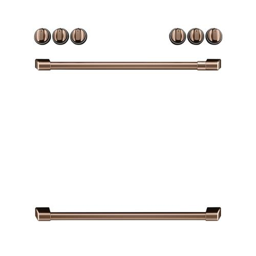 Café Front Control Electric Knobs and Handles - Brushed Copper