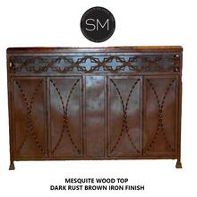 Mesquite Wood Buffet Cabinet