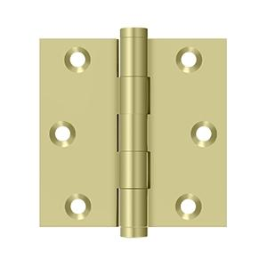 """Deltana - 3"""" x 3"""" Square Hinge - Unlacquered Brass"""