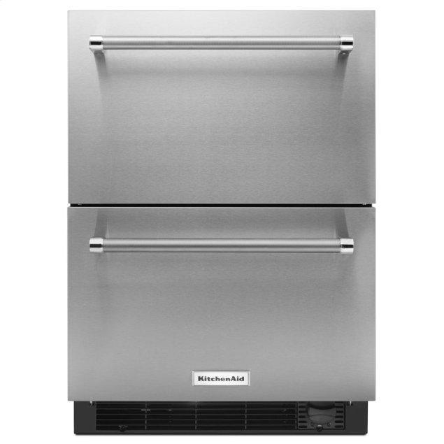 "Kitchenaid 24"" Stainless Steel Refrigerator/Freezer Drawer"
