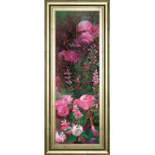 """Pink Azalea Garden I"" By Li Bo Framed Print Wall Art"