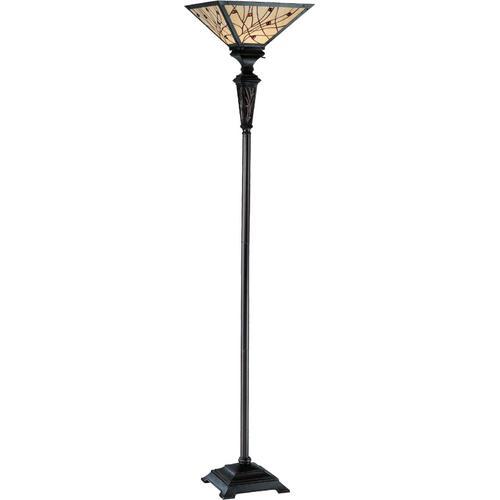 Torchiere Lamp - Dark Bronze/tiffany Shade, Type A 150w