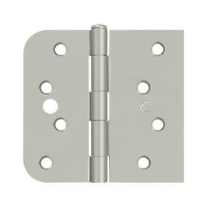 "Special Hinge for Fiber Glass Doors, 4"" x 4 1/4"" x 5/8"" Radius x SQ, Security Stud - Brushed Nickel Product Image"