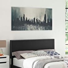 View Product - Phoebe King Upholstered Vinyl Headboard in Black