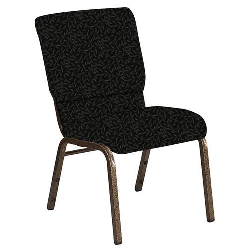 Flash Furniture - 18.5''W Church Chair in Jasmine Pewter Fabric - Gold Vein Frame