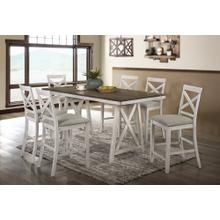 See Details - Somerset 7 Pc Vintage Cream/White Counter Height Dinette Set by New Classic, Model D2959