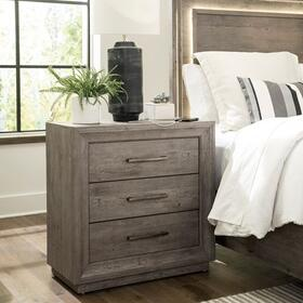Bedside Chest w/ Charging Station