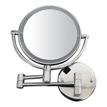 Round Wall Mount Dual Led 1x/7X Magnified Mirror