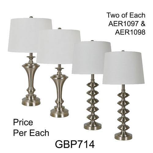 "29""TH METAL TABLE LAMP, 4 PCS ASSORTED PK/ 4.29'"