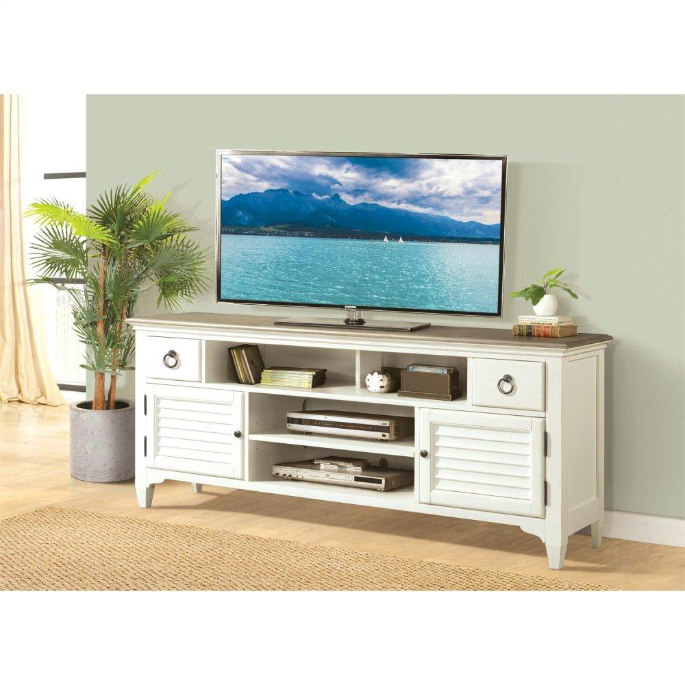 See Details - Myra - 74-inch TV Console - Natural/paperwhite Finish