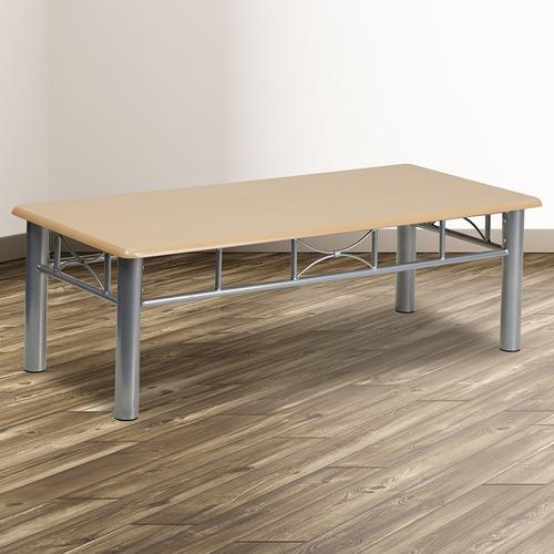 Flash Furniture - Natural Laminate Coffee Table with Silver Steel Frame