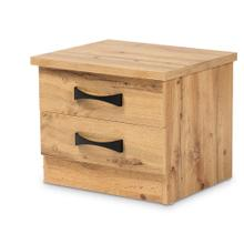 See Details - Baxton Studio Colburn Modern and Contemporary Oak Brown Finished Wood 2-Drawer Nightstand