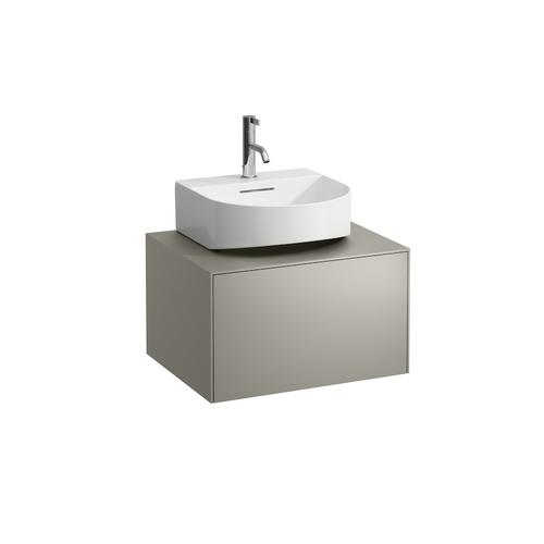 White Matte Drawer element, 1 drawer, matching small washbasin 816341, centre cut-out