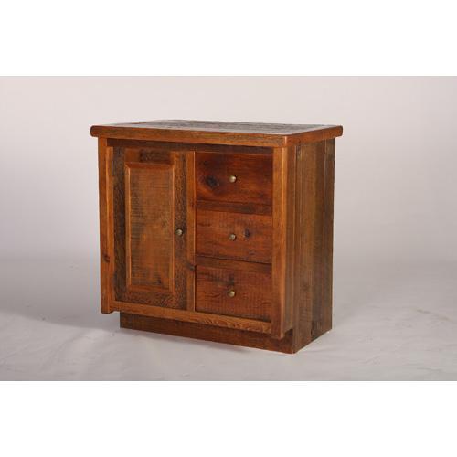 Stony Brooke 1 Door 3 Drawer Vanity With Wood Top