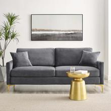 Juliana Performance Velvet Sofa in Gray