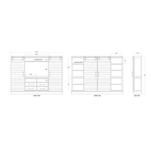 Gallery - Sonoma Media Cabinet with Sliding Doors