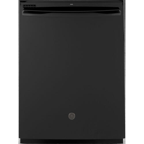 "GE 24"" Built-In Hidden Control Dishwasher with Tall Tub Black - GDT605PGMBB"