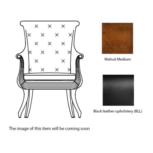 Occasional chair in black leather