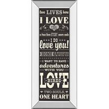 """L-O-V-E Ill"" By Pela Studio Mirror Framed Print Wall Art"