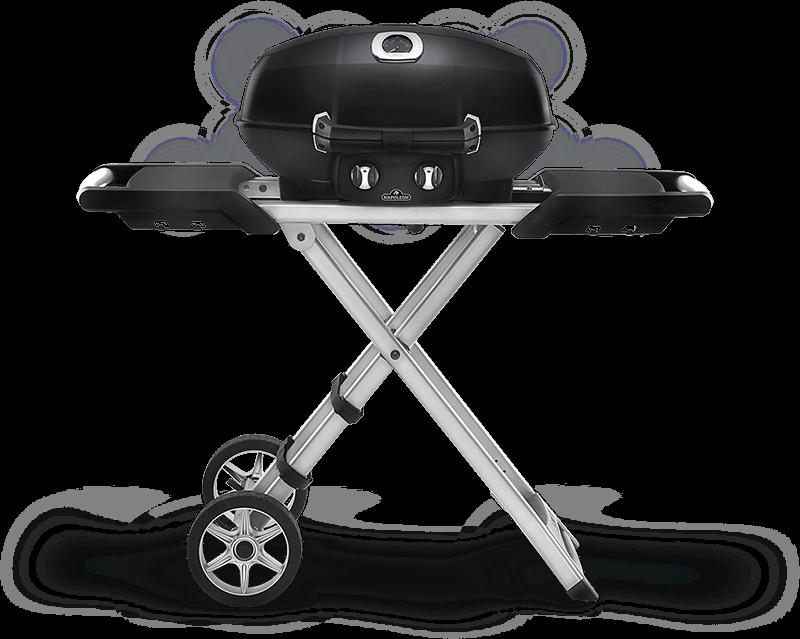 Napoleon BBQTravelq Pro285x With Scissor Cart , Black , Propane