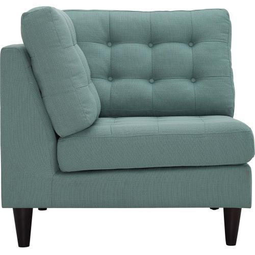 Modway - Empress Upholstered Fabric Corner Sofa in Laguna