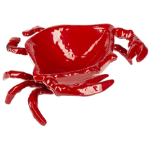 Red Enamel Crab Trinket Dish