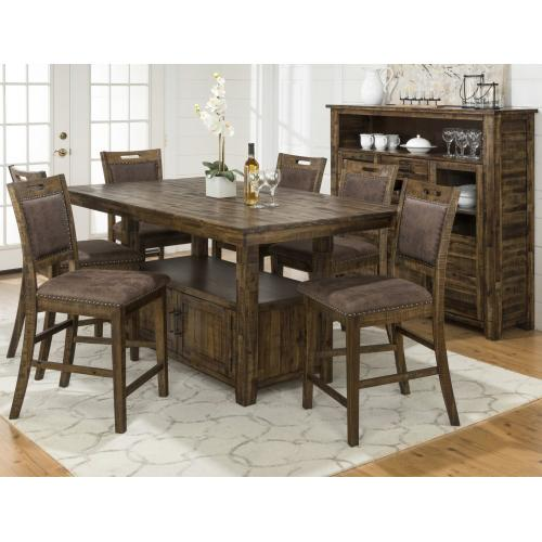 Cannon Valley Pub Height Dining Table and 4 Stools