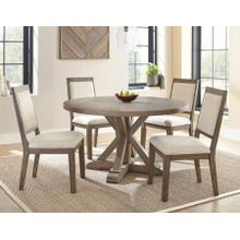 Molly 5 Piece 54-inch Round Set(Table & 4 Side Chairs)