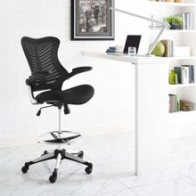See Details - Charge Drafting Chair in Black