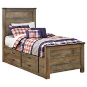 Trinell Twin Panel Bed With 2 Storage Drawers