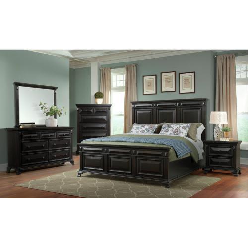 Calloway 7-Drawer Dresser w/ Mirror Set in Antique Black