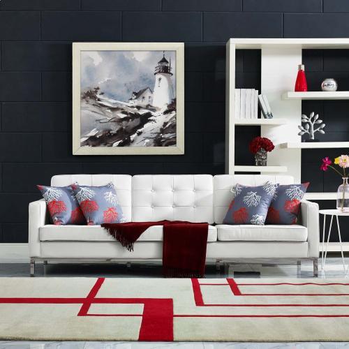 Modway - Loft Leather Sofa in Cream White