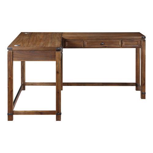 Baton Rouge L-shap Desk In Brushed Walnut Finish