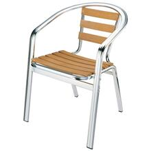 "Chair With Aluminium Frame and Ash Wood Tube: 38""16""1.5MM"