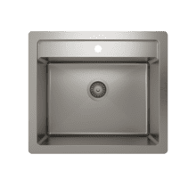 "ProInox H75 Single Bowl dualmount Utility Sink ProInox H75 18-gauge Stainless Steel, 22"" x 16"" x 12"" *OPEN BOX*"