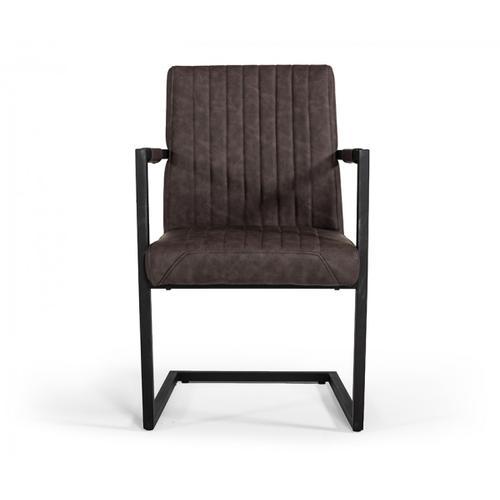 Modrest Marta Modern Brown Leatherette Dining Chair (Set of 2)