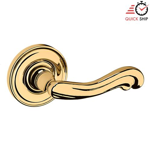 Baldwin - Lifetime Polished Brass 5108 Estate Lever with 5048 Rose