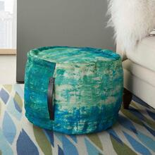 "Outdoor Pillow As130 Blue/green 20"" X 20"" X 12"" Pouf"