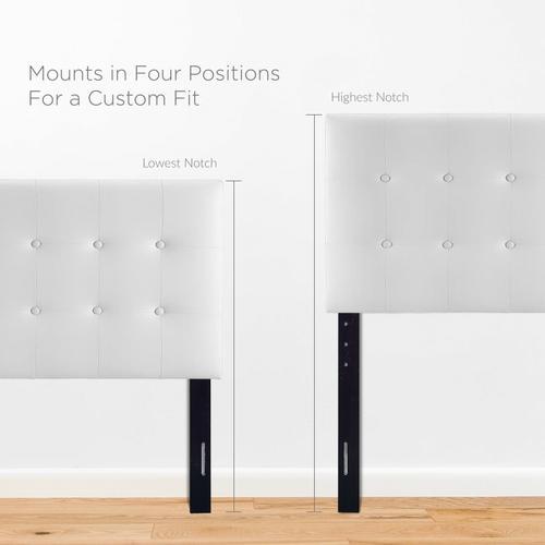 Modway - Emily Twin Upholstered Vinyl Headboard in White