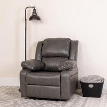 See Details - Harmony Series Gray LeatherSoft Recliner