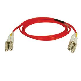 Duplex Multimode 62.5/125 Fiber Patch Cable (LC/LC) - Red, 15M (50 ft.)