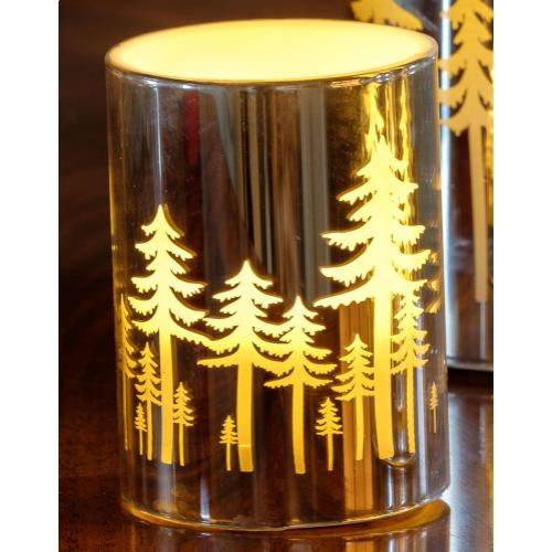 """4"""" Silver Grove LED Candle"""