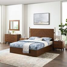 Kali 5-Piece Bedroom Set in Walnut
