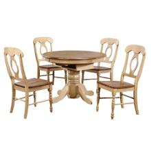 See Details - Round or Oval Butterfly Leaf Dining Set w/Napoleon Chairs (5 piece)