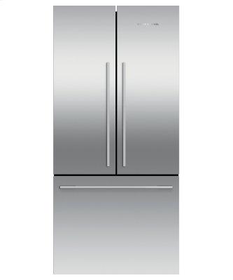 """Freestanding French Door Refrigerator Freezer, 32"""", 16.9 cu ft, Ice"""