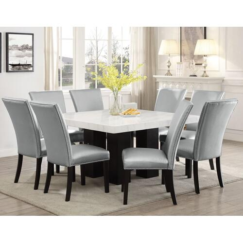 Gallery - Camila Square Marble Top Dining(Mix or Match Chairs)