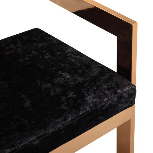 Tov Furniture - Marquee Black Velvet Counter Stool