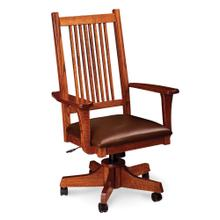 See Details - Prairie Mission Arm Desk Chair, Fabric Cushion Seat