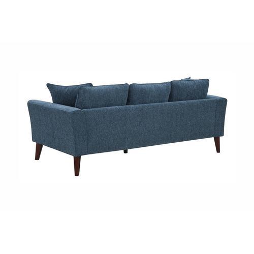 Porter International Designs - Percy Blue Sofa, Loveseat & Chair, U5311