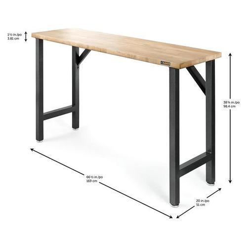 "66-1/2"" Wide Hardwood Modular Workbench"